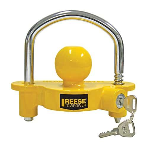 REESE Towpower 72783 Universal Coupler Lock, Adjustable Storage Security, Heavy-Duty Steel