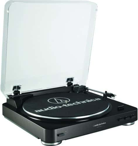 Audio-Technical AT-LP60BK Automatic Belt-Drive Stereo Turntable