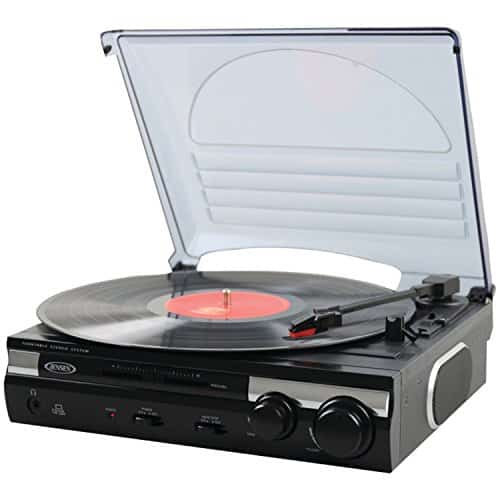 Jensen JTA-230 3 Speed Stereo Turntable with Built-in Speakers