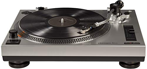 Crosley C100A-SI Turntable with S-Shaped Tone Arm with Adjustable Counterweight