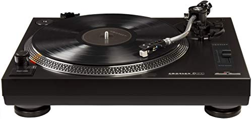 Crosley C200A-BK Direct Drive Turntable with S-Shaped Tone Arm
