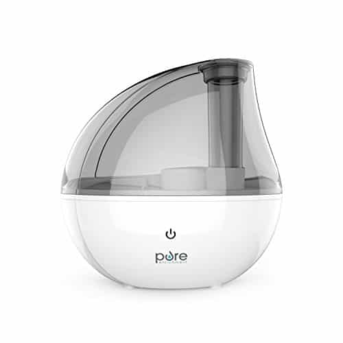 The Pure Enrichment MistAire Silver Ultrasonic Cool Mist Humidifier
