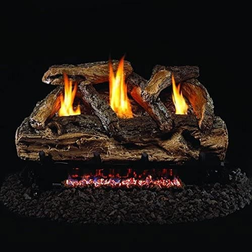 Peterson Real Fyre 24-inch Split Oak Log Set With Vent-free Natural Gas Ansi Certified G9 Burner
