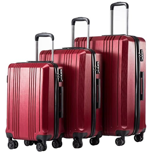 Expandable Suitcase 3 Piece Set