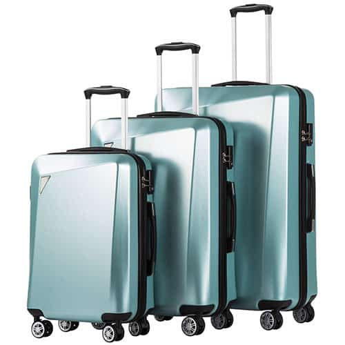 Coolife PC+ABS Spinner Suitcase