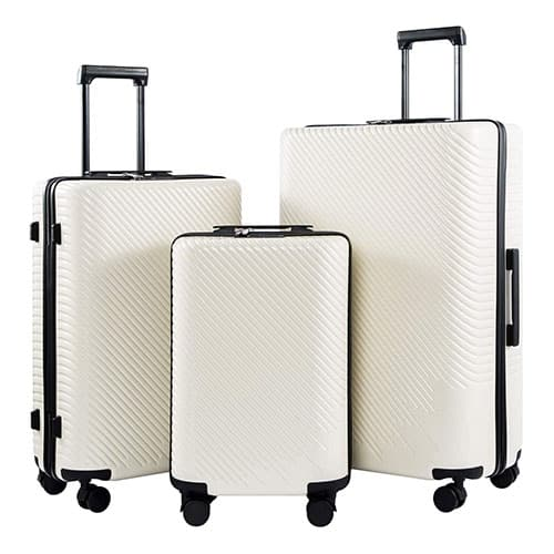 Coolife Spinner Suitcase carry on Fashion