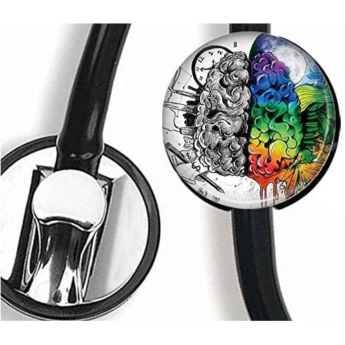 Painted Brain medical Stethoscope