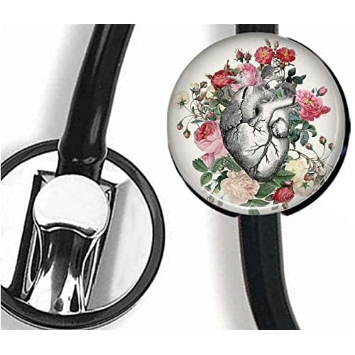 Flower and heart stethoscope