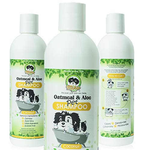Mika Pets Shampoo for Dry Itchy Skin Dandruff Relief